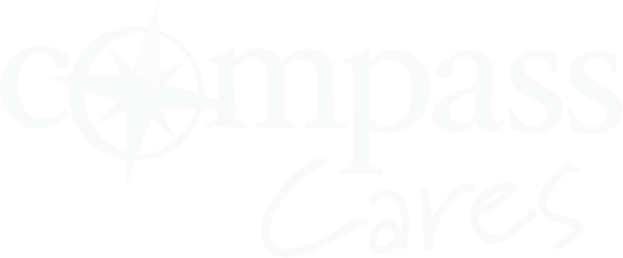 Compass Cares Logo (white)
